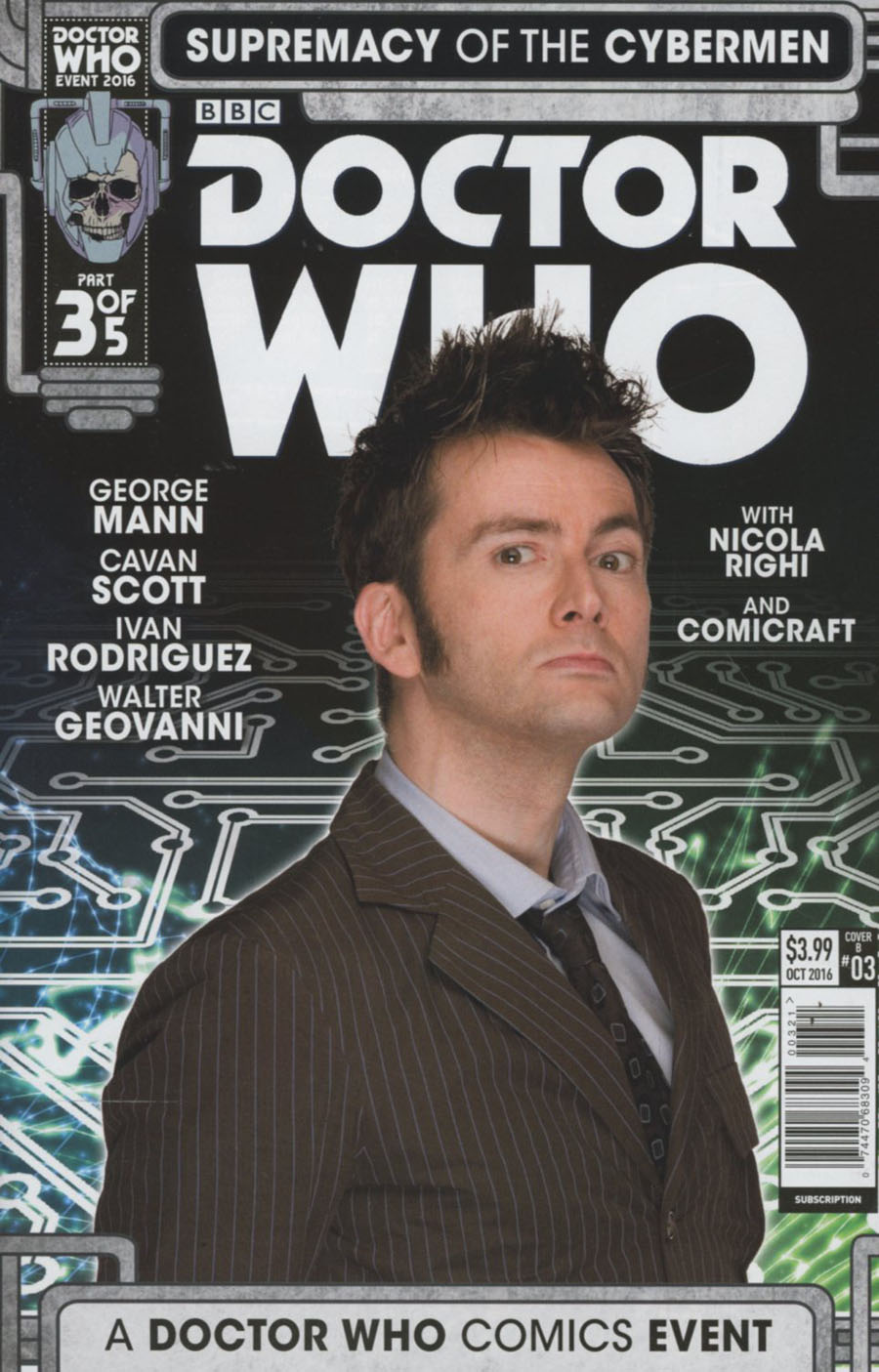 Doctor Who Event 2016 Supremacy Of The Cybermen #3 Cover B Variant Photo Cover