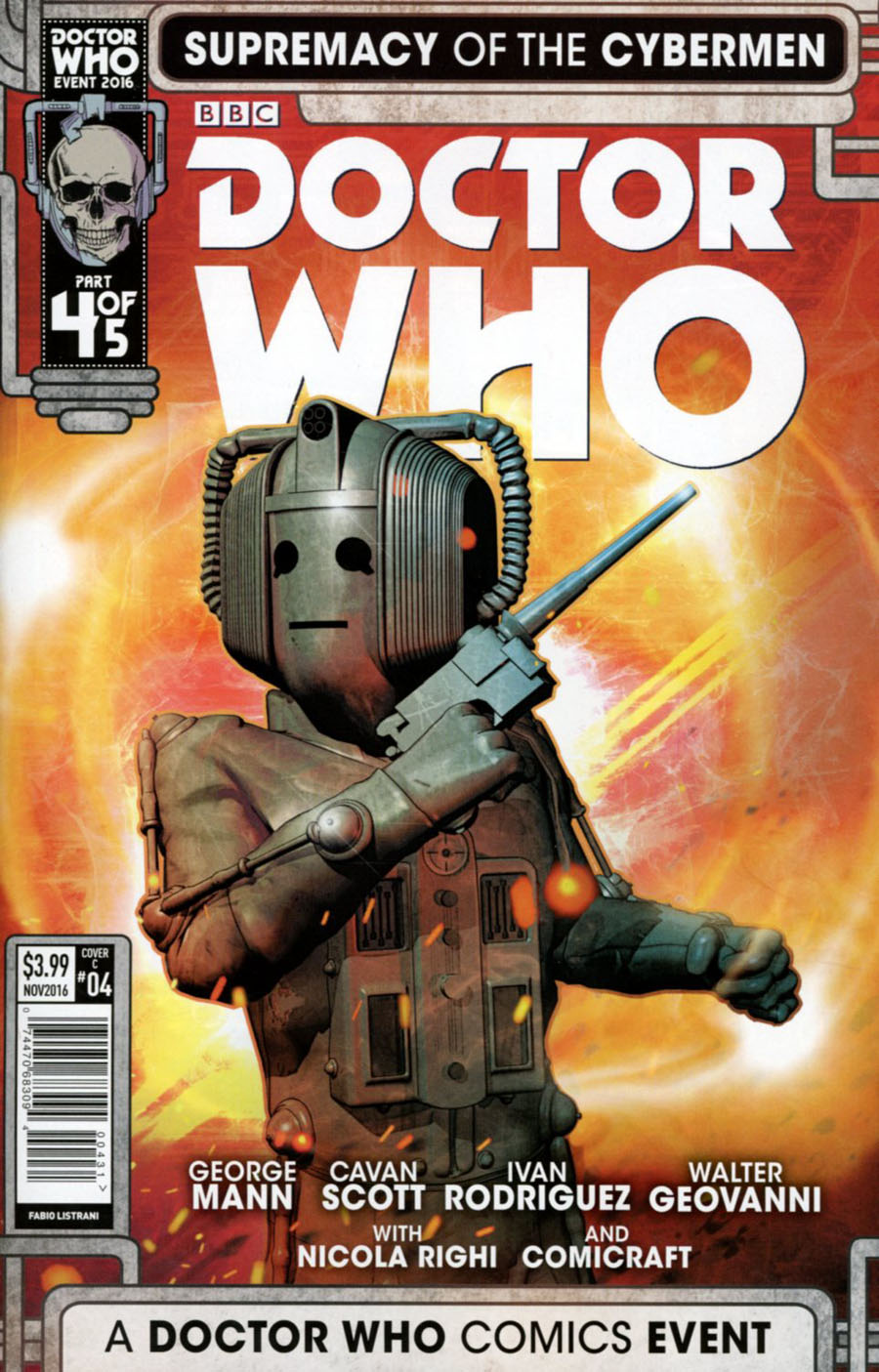 Doctor Who Event 2016 Supremacy Of The Cybermen #4 Cover C Variant Fabio Listrani Cover