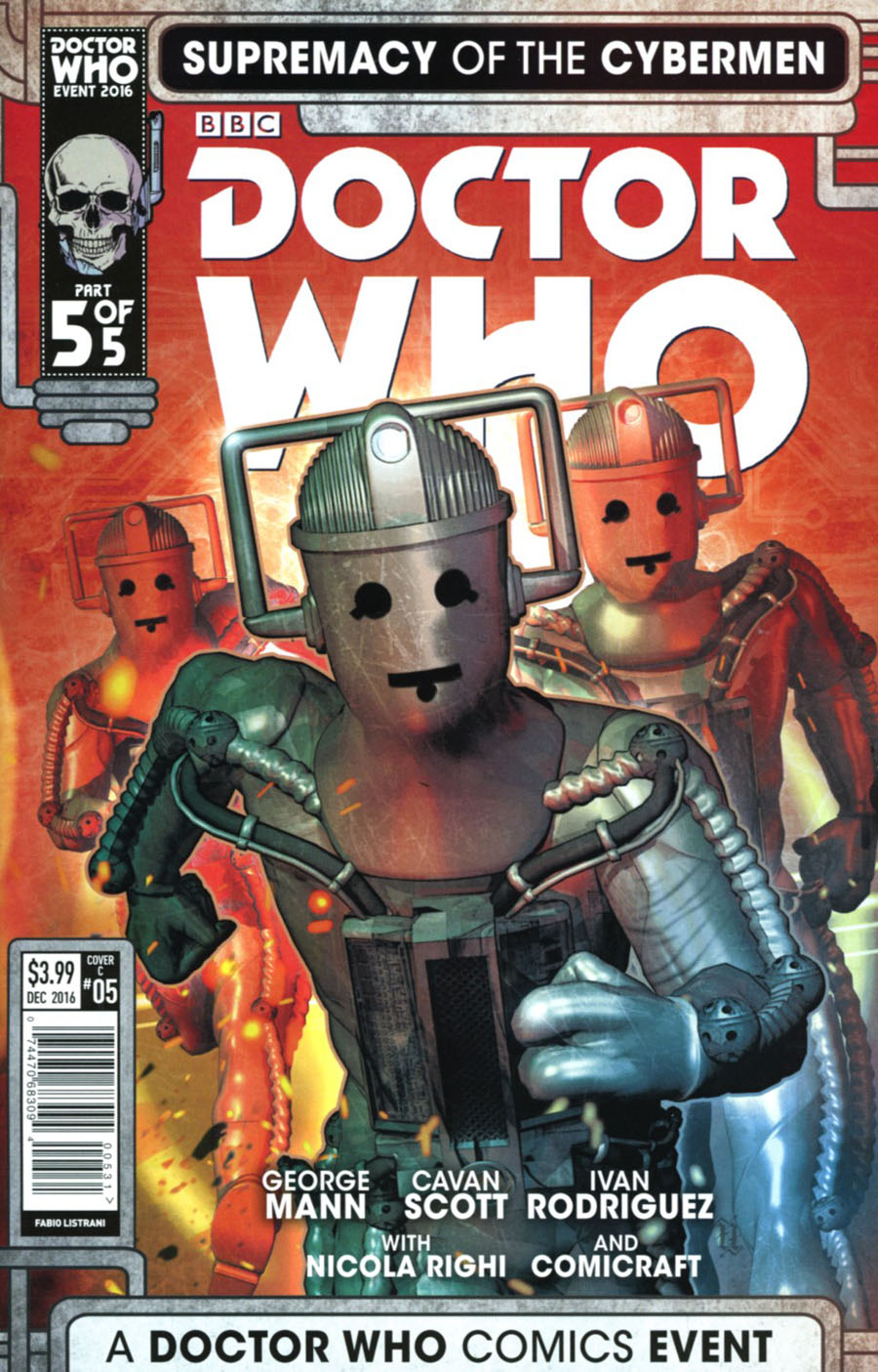 Doctor Who Event 2016 Supremacy Of The Cybermen #5 Cover C Variant Fabio Listrani Cover
