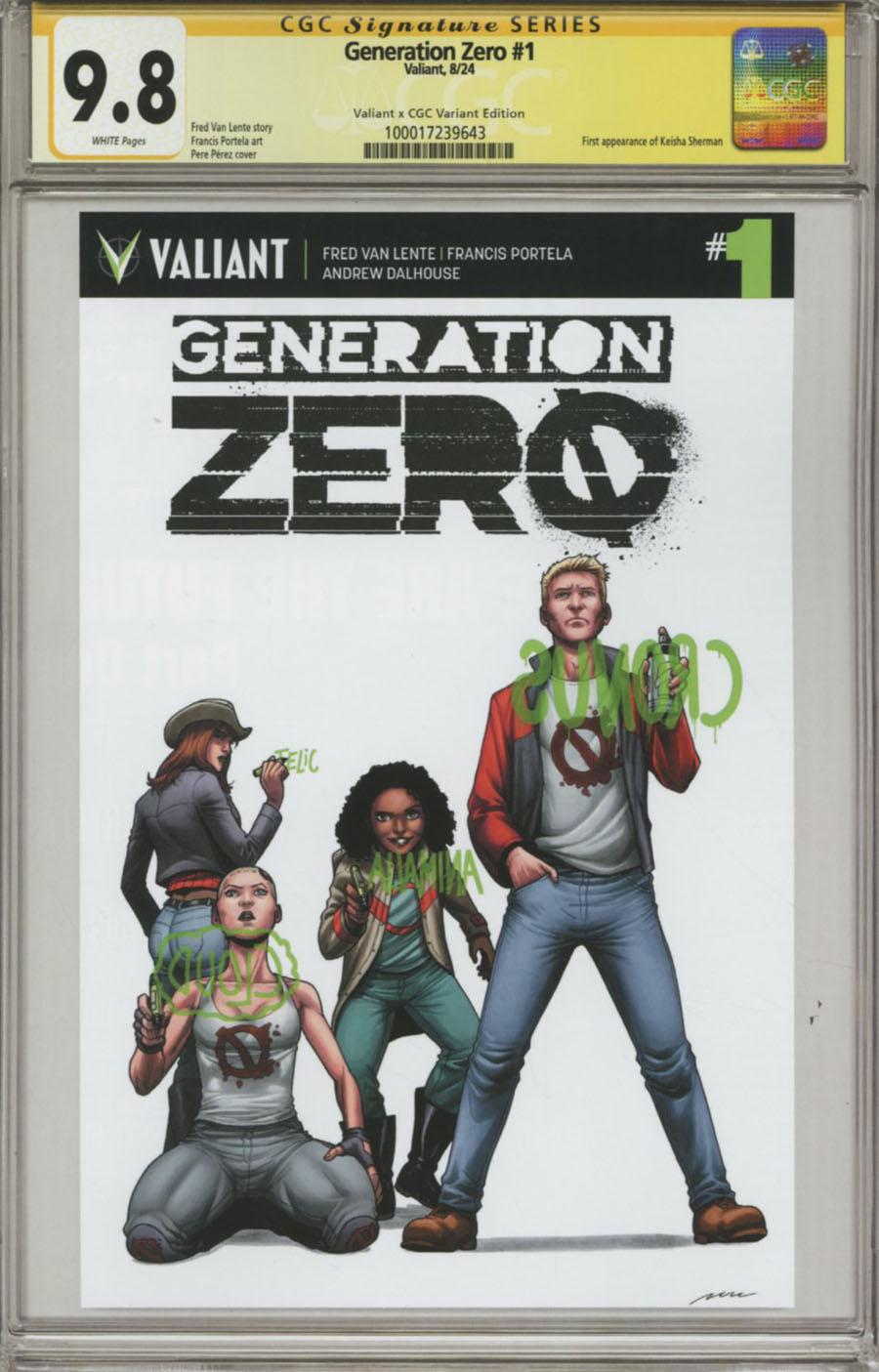 Generation Zero #1 Cover C Variant Pere Perez Valiant x CGC Replica Cover