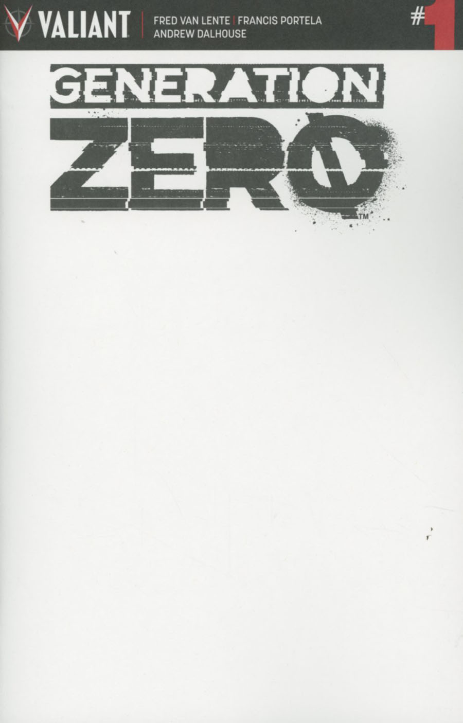 Generation Zero #1 Cover D Variant Blank Cover