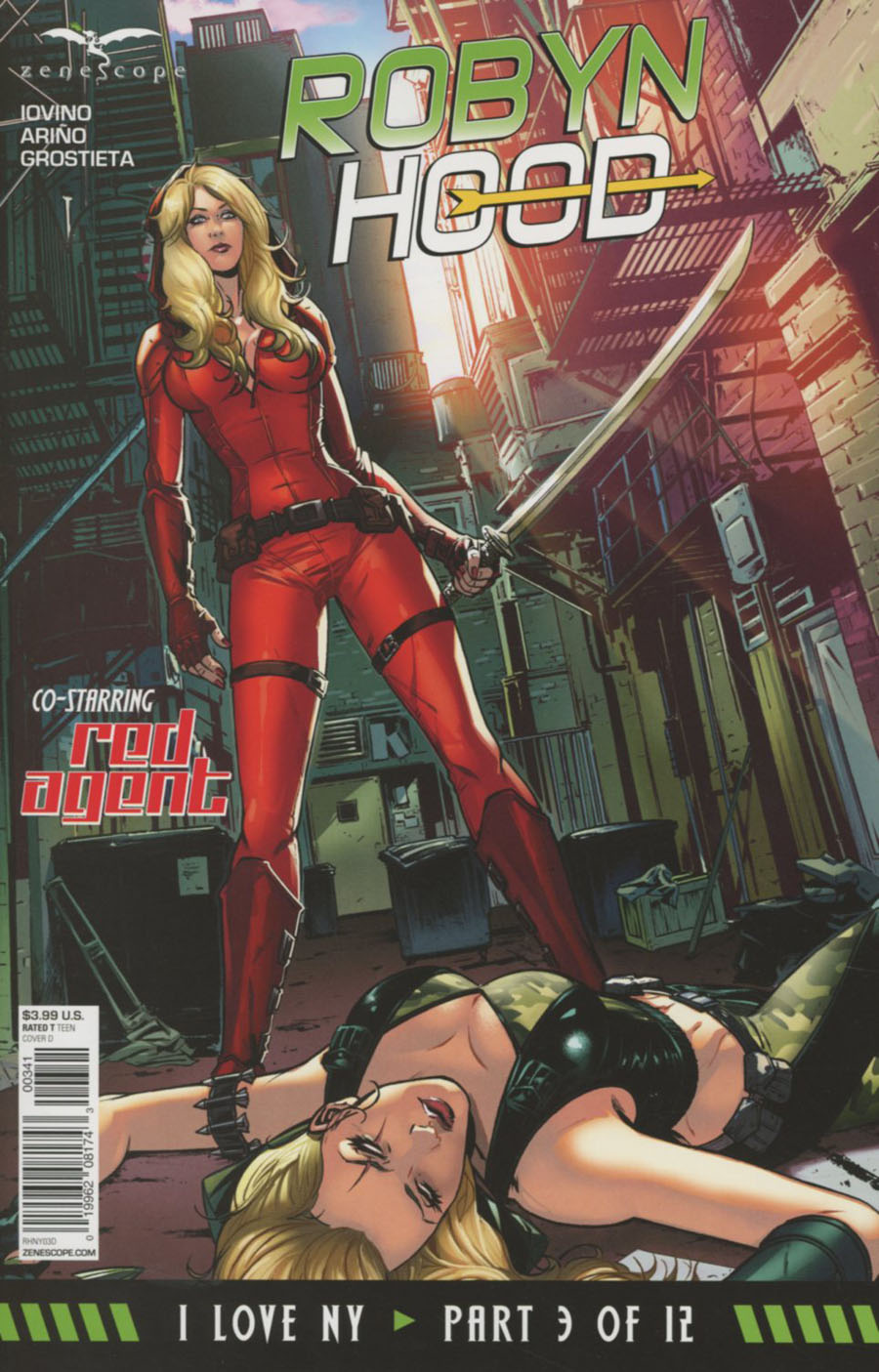 Grimm Fairy Tales Presents Robyn Hood I Love NY #3 Cover D David Lorenzo Riveiro
