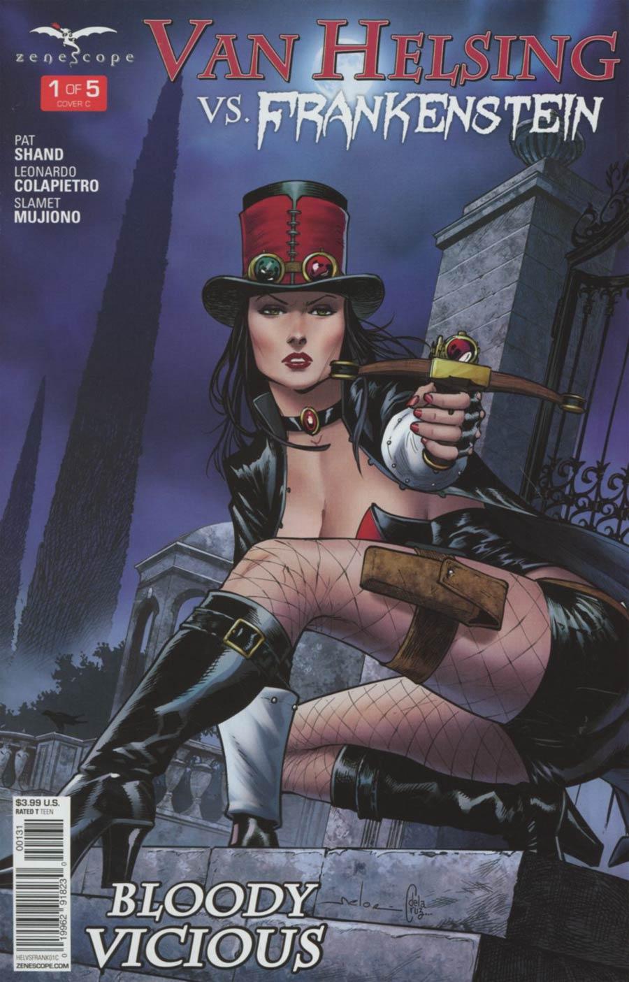 Grimm Fairy Tales Presents Van Helsing vs Frankenstein #1 Cover C Andrea Meloni