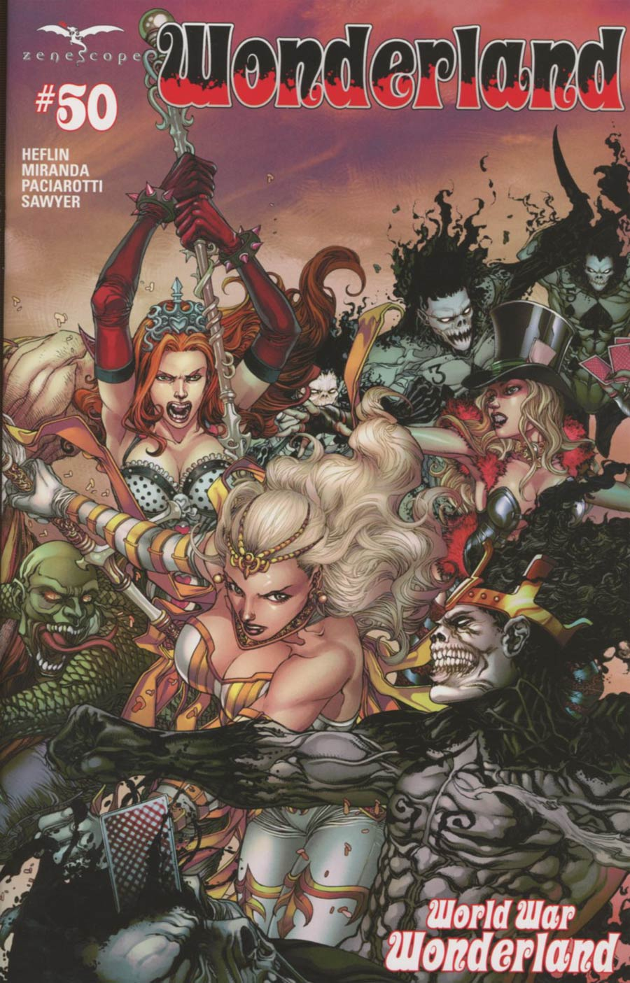 Grimm Fairy Tales Presents Wonderland Vol 2 #50 Cover C Harvey Tolibao Connecting