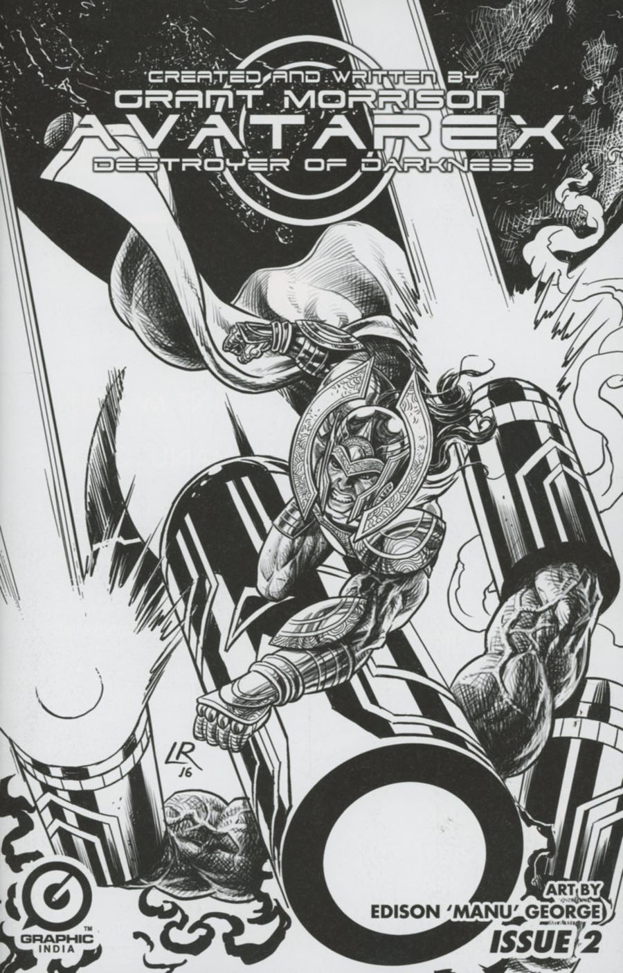 Grant Morrisons Avatarex Destroyer Of Darkness #2 Cover D Variant Luke Ross Rare Pencil Sketch Cover