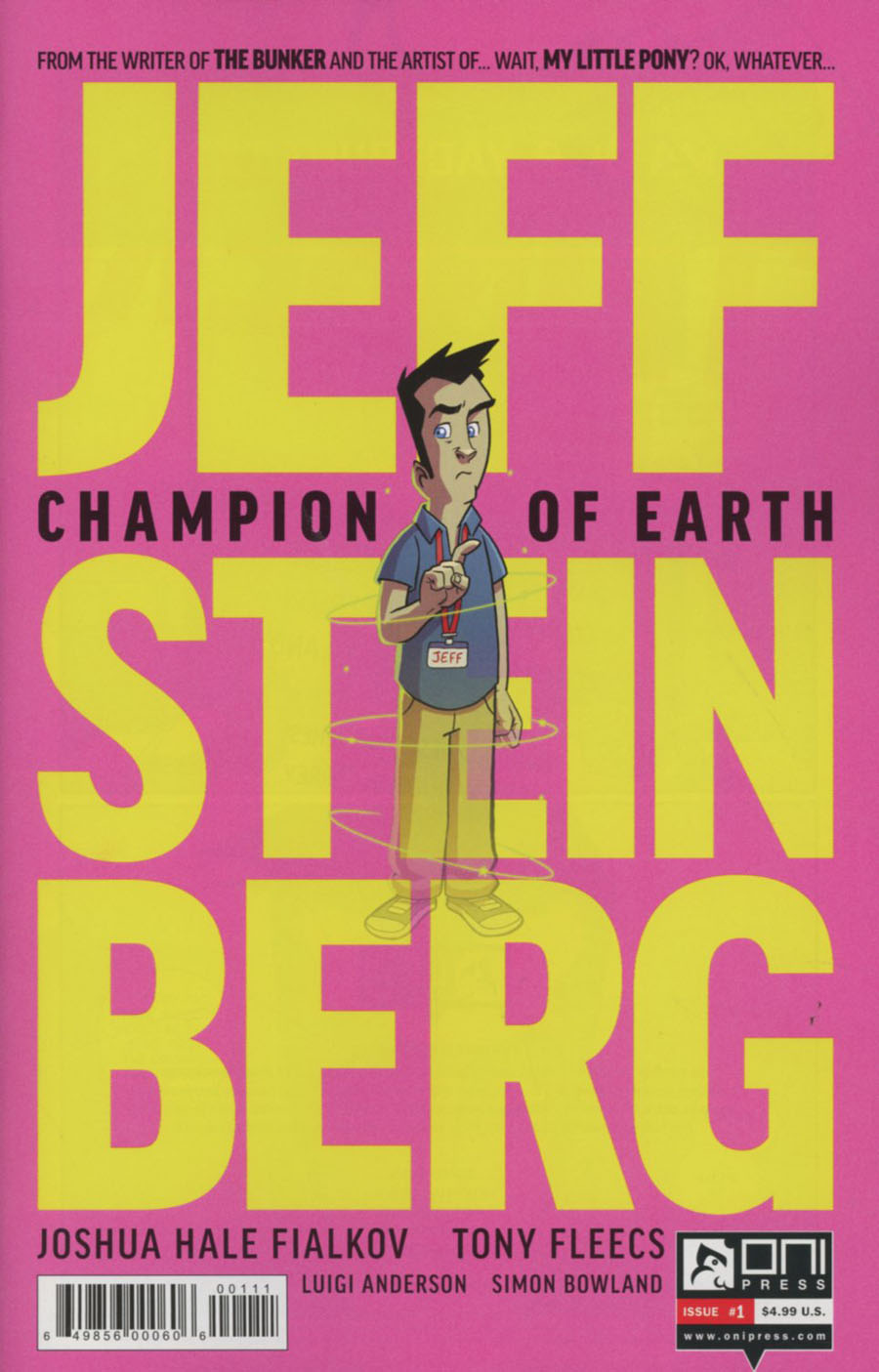Jeff Steinberg Champion Of Earth #1 Cover A Regular Tony Fleecs Cover