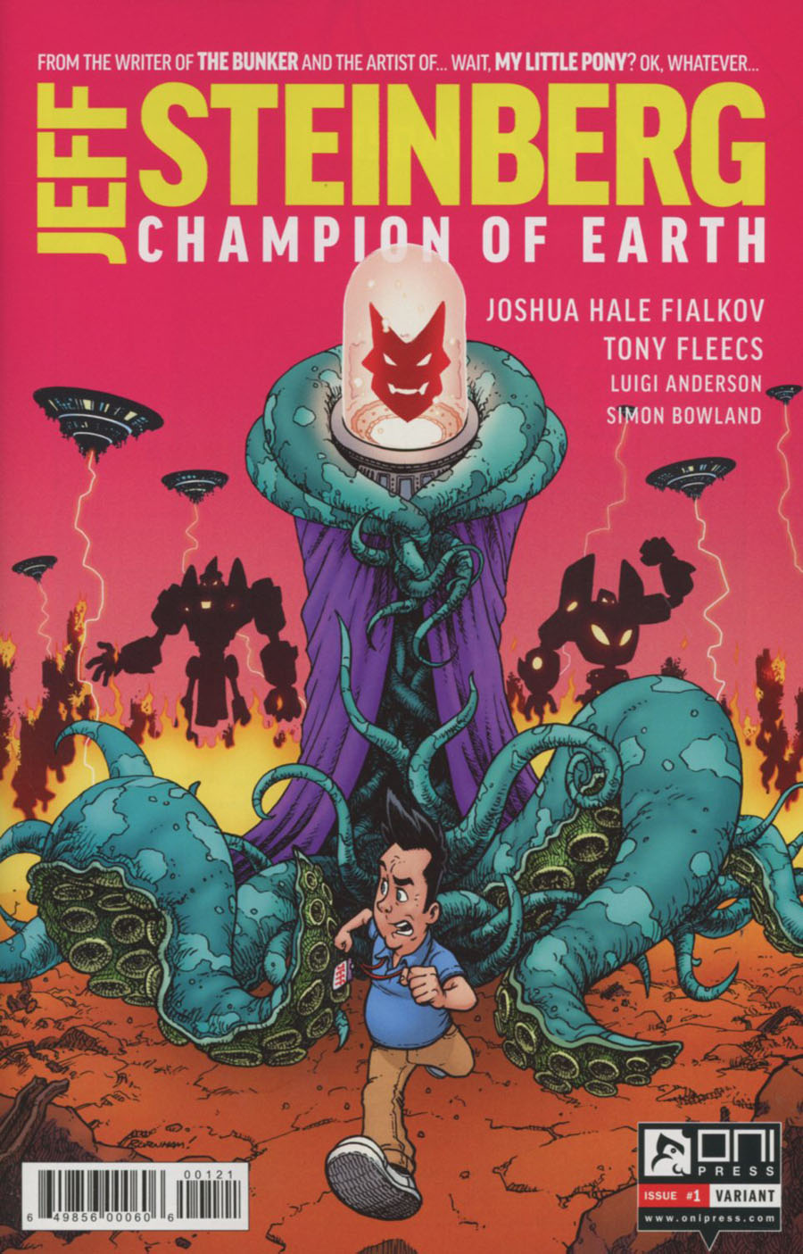 Jeff Steinberg Champion Of Earth #1 Cover B Variant Chris Burnham Cover
