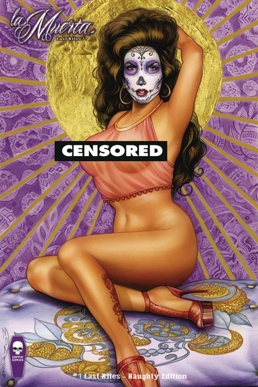 La Muerta Last Rites #1 Cover D Variant Monte Moore Naughty Cover