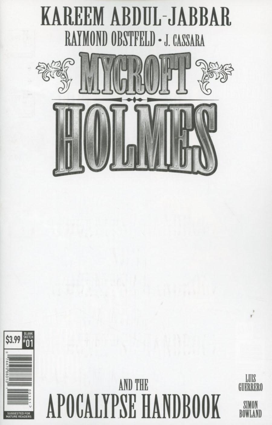 Mycroft Holmes And The Apocalypse Handbook #1 Cover E Variant Blank Cover