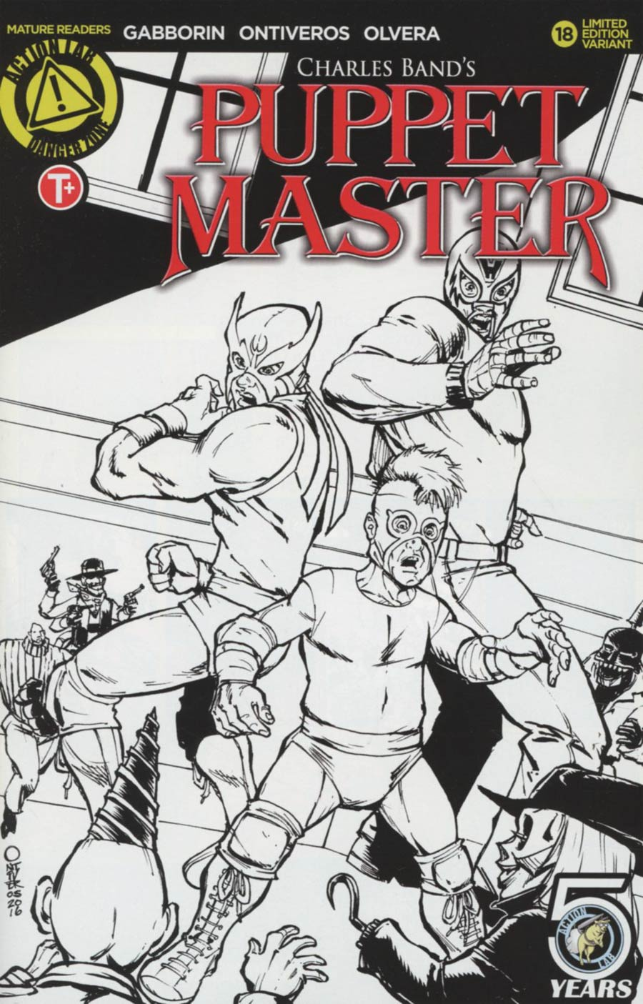 Puppet Master #18 Cover B Variant Antonio Ontiveros Sketch Cover