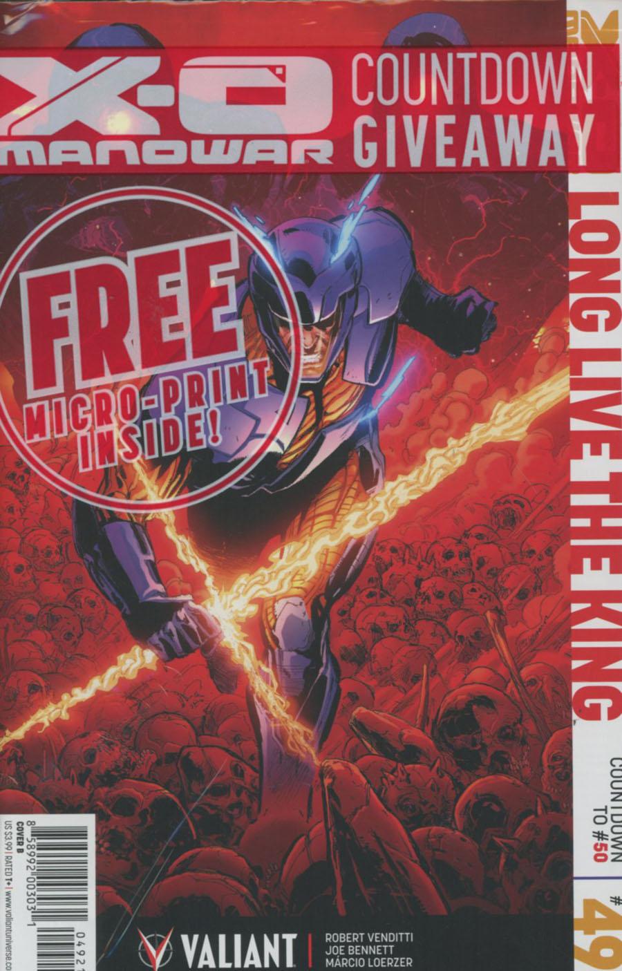 X-O Manowar Vol 3 #49 Cover B Variant Phil Jimenez Cover