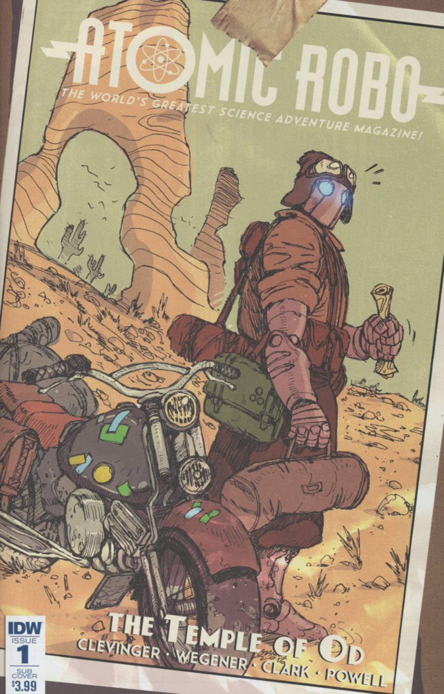 Atomic Robo And The Temple Of Od #1 Cover B Variant Giannis Milogiannis Subscription Cover