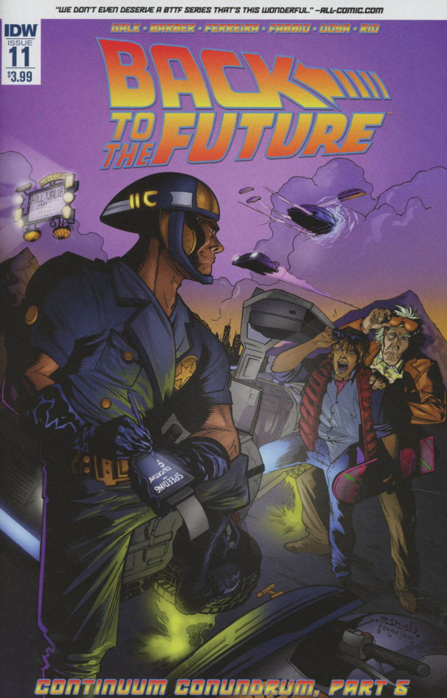 Back To The Future Vol 2 #11 Cover A Regular Marcelo Ferreira Cover