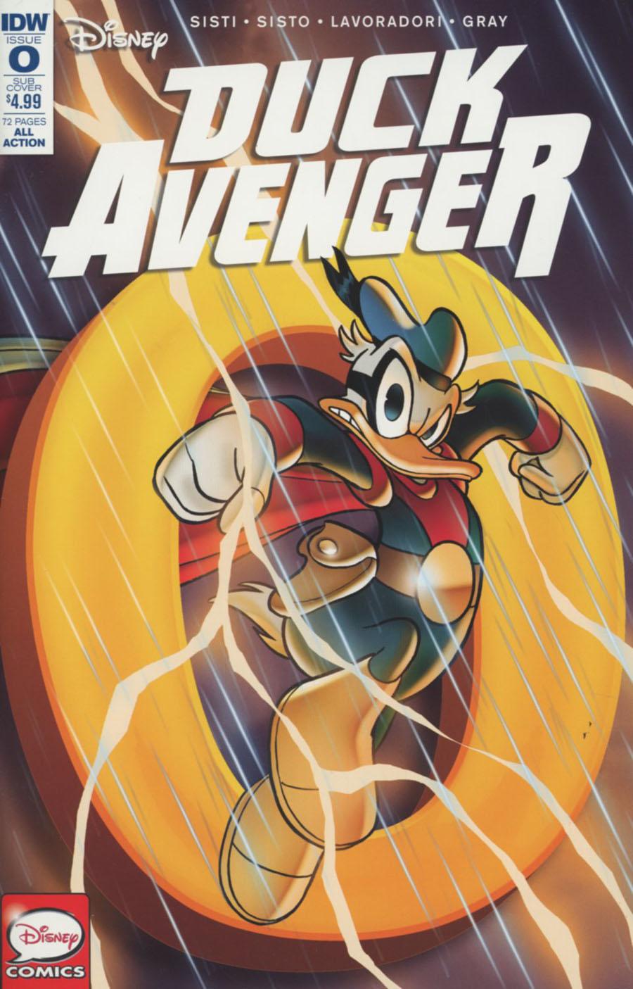 Duck Avenger #0 Cover B Variant Andrea Freccero Subscription Cover