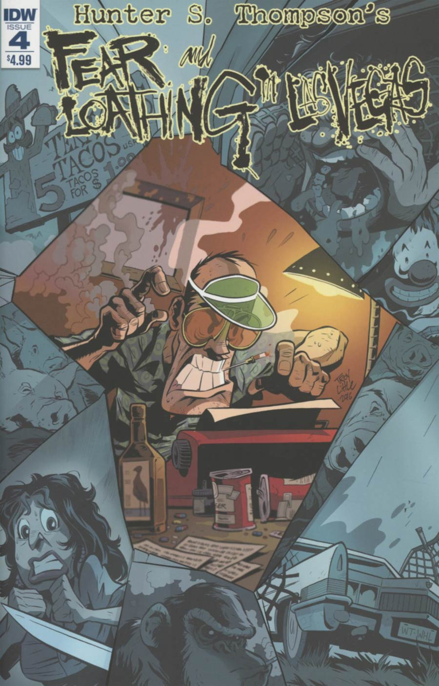 Hunter S Thompsons Fear And Loathing In Las Vegas #4 Cover A Regular Troy Little Cover