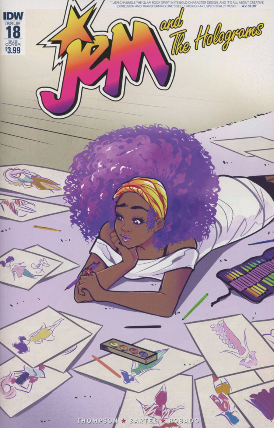 Jem And The Holograms #18 Cover B Variant M Victoria Robado Subscription Cover