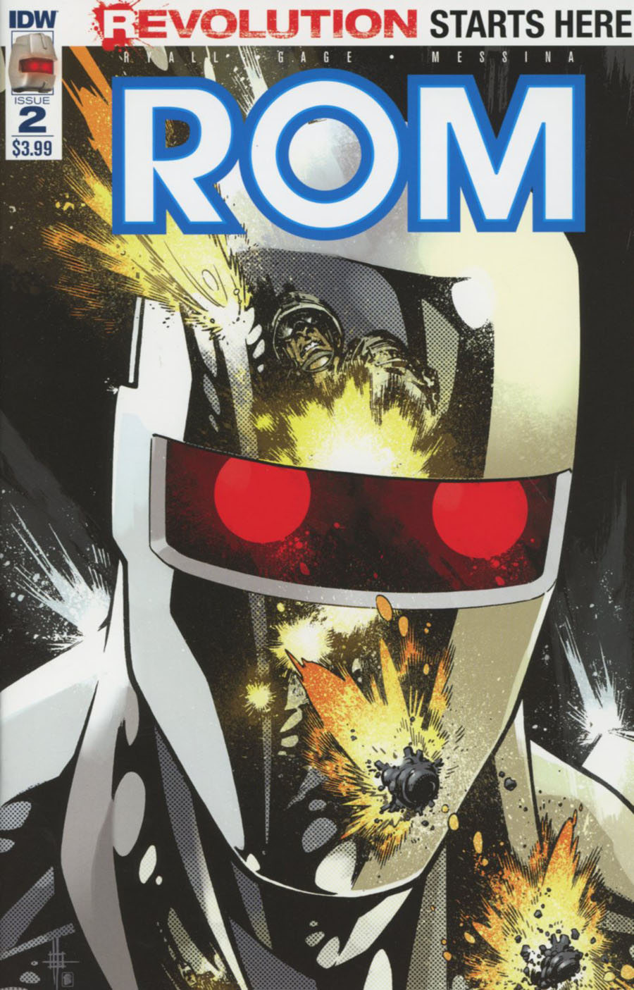 ROM Vol 2 #2 Cover A Regular Zach Howard Cover (Revolution Tie-In)