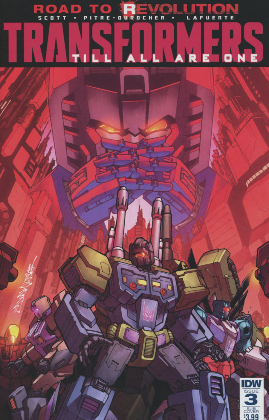Transformers Till All Are One #3 Cover B Variant Alex Milne Subscription Cover (Revolution Tie-In)