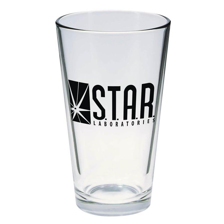 Toon Tumblers Flash TV STAR Labs Pint Glass