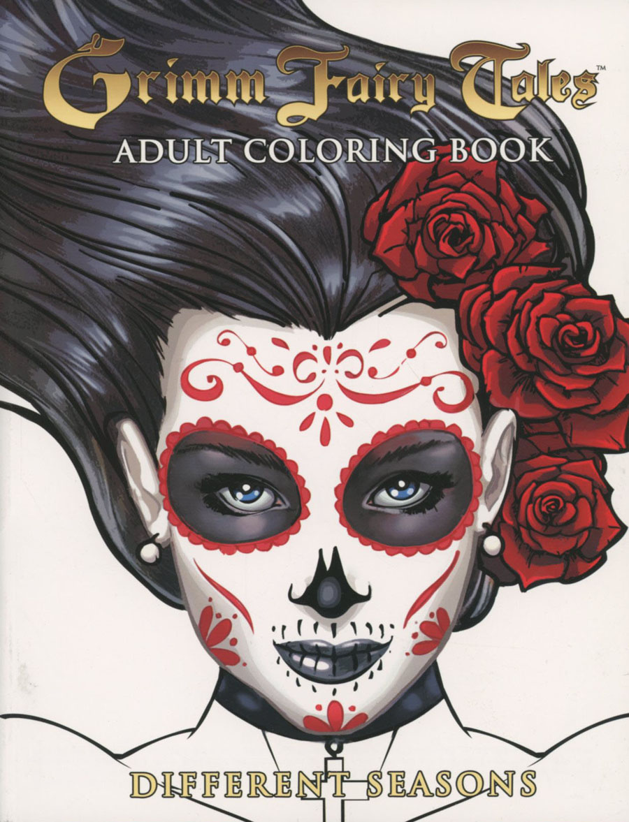 Grimm Fairy Tales Adult Coloring Book Different Seasons TP