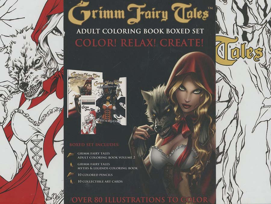Grimm Fairy Tales Adult Coloring Book Boxed Set - Midtown Comics