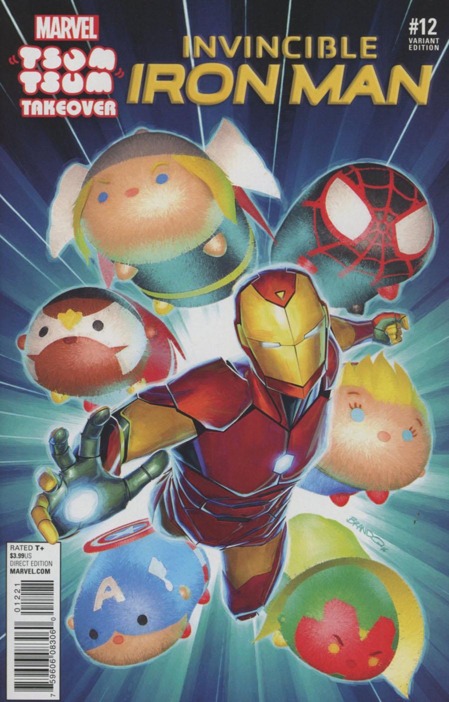 Invincible Iron Man Vol 2 #12 Cover B Variant Brandon Peterson Marvel Tsum Tsum Takeover Cover (Civil War II Tie-In)