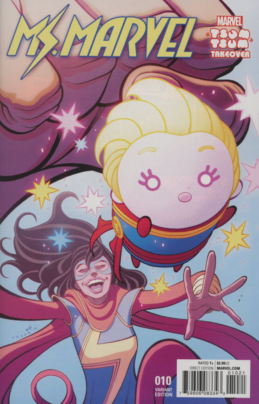 Ms Marvel Vol 4 #10 Cover B Variant Tradd Moore Marvel Tsum Tsum Takeover Cover (Civil War II Tie-In)
