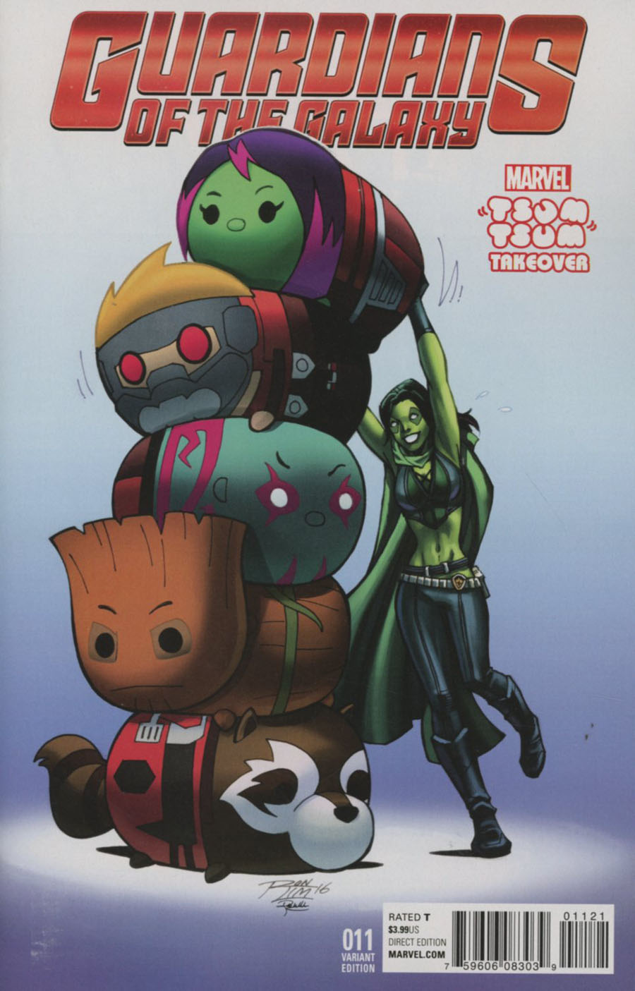 Guardians Of The Galaxy Vol 4 #11 Cover B Variant Marvel Tsum Tsum Takeover Cover (Civil War II Tie-In)