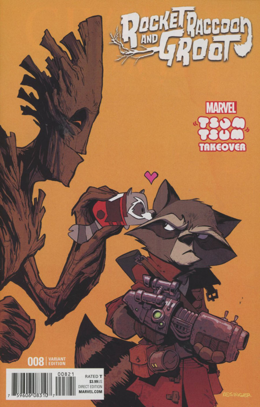 Rocket Raccoon And Groot #8 Cover B Variant Brian Kesinger Marvel Tsum Tsum Takeover Cover (Civil War II Tie-In)