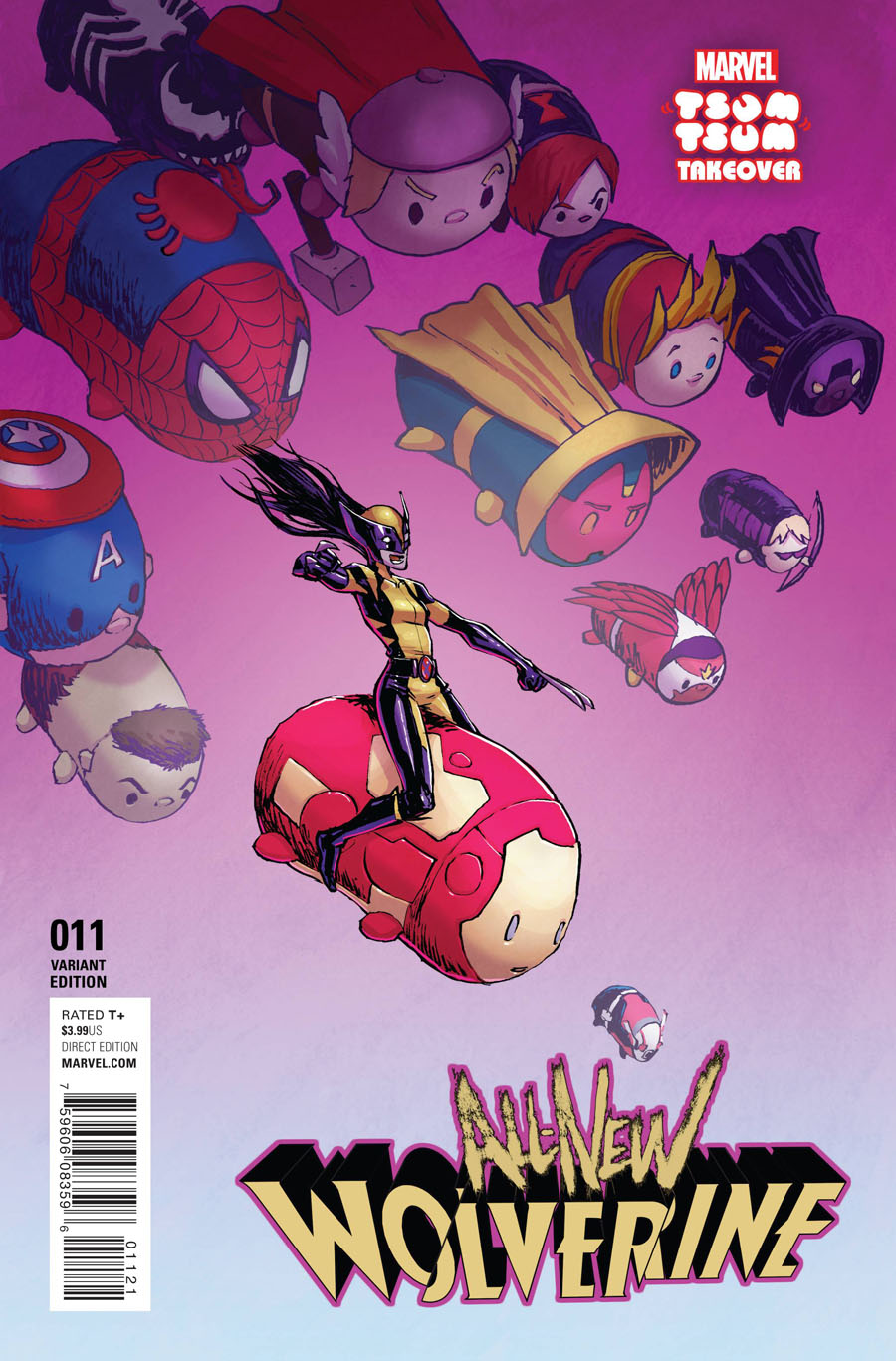 All-New Wolverine #11 Cover B Variant Jake Parker Marvel Tsum Tsum Takeover Cover (Civil War II Tie-In)
