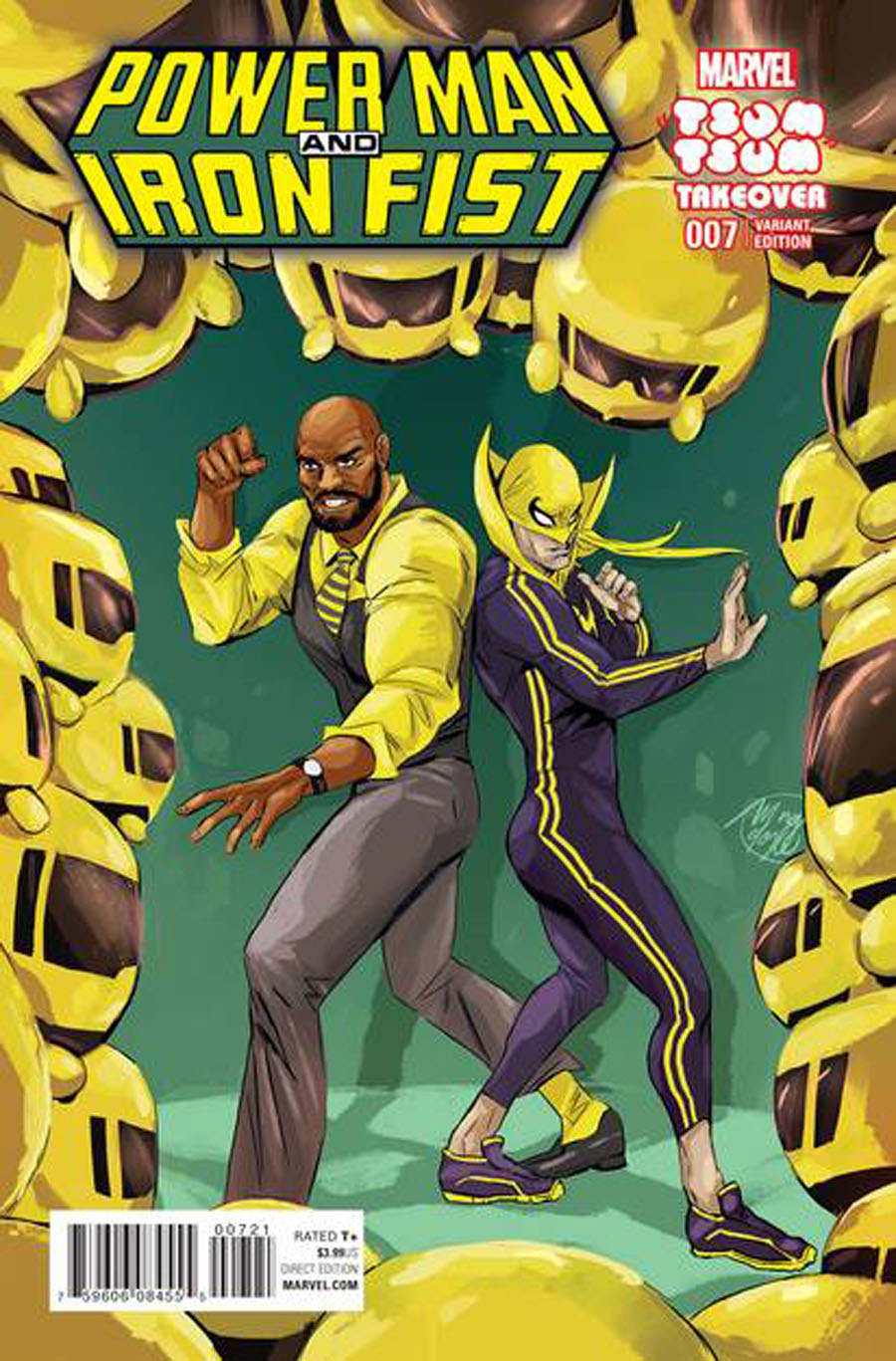 Power Man And Iron Fist Vol 3 #7 Cover B Variant Ming Doyle Marvel Tsum Tsum Takeover Cover (Civil War II Tie-In)