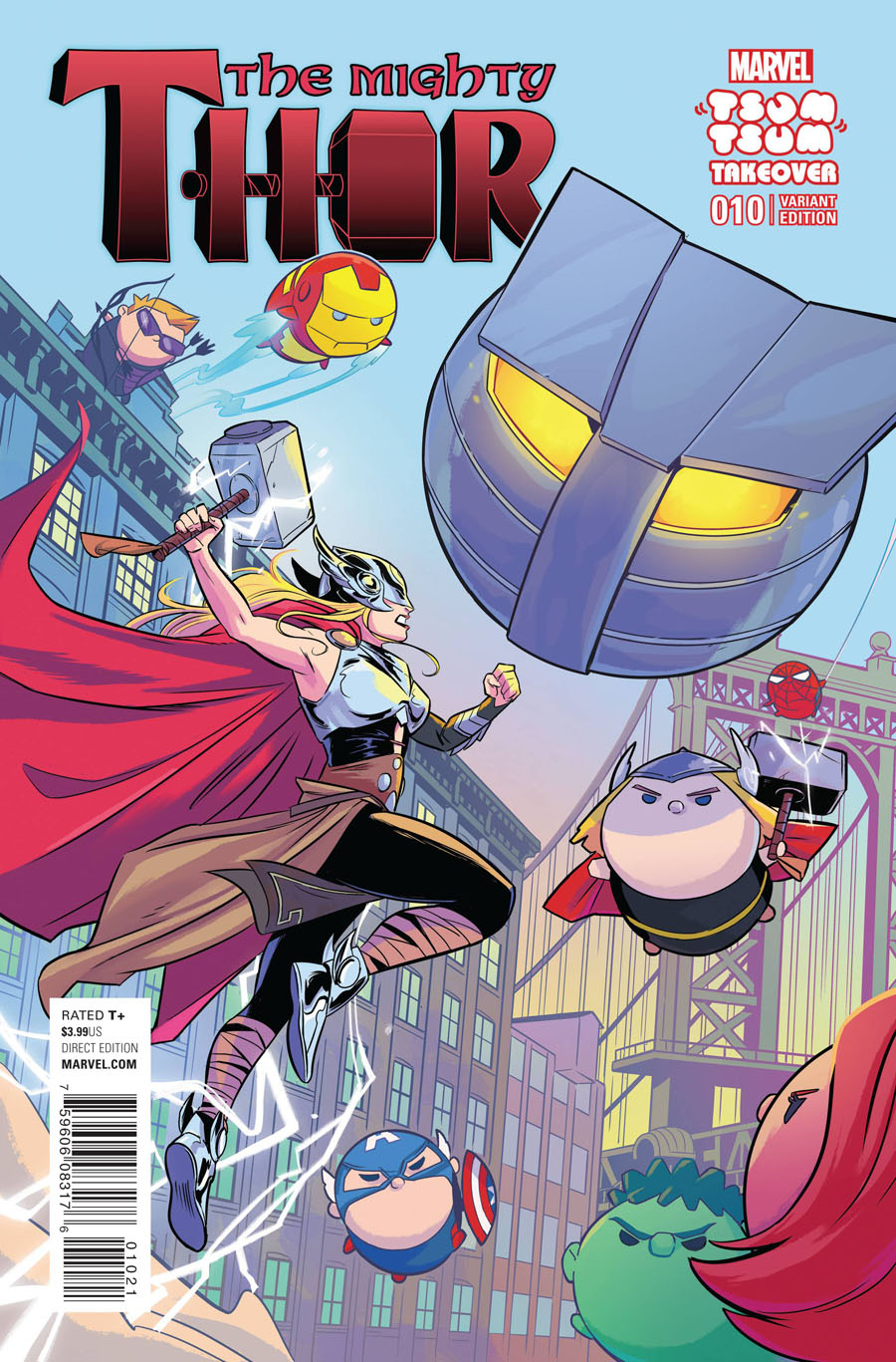 Mighty Thor Vol 2 #10 Cover B Variant Natacha Bustos Marvel Tsum Tsum Takeover Cover