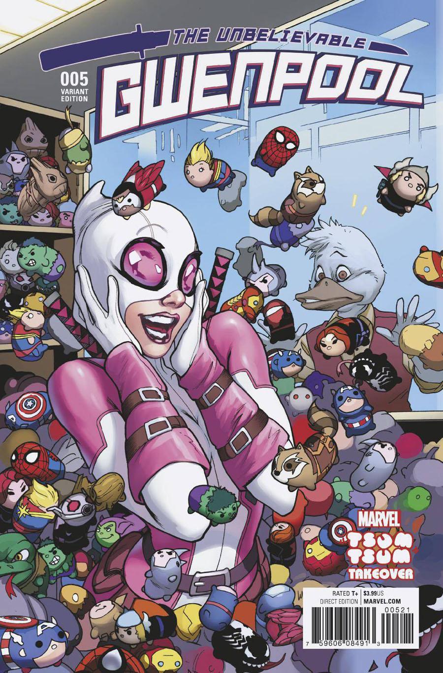 Gwenpool #5 Cover B Variant Emanuela Lupacchino Marvel Tsum Tsum Takeover Cover