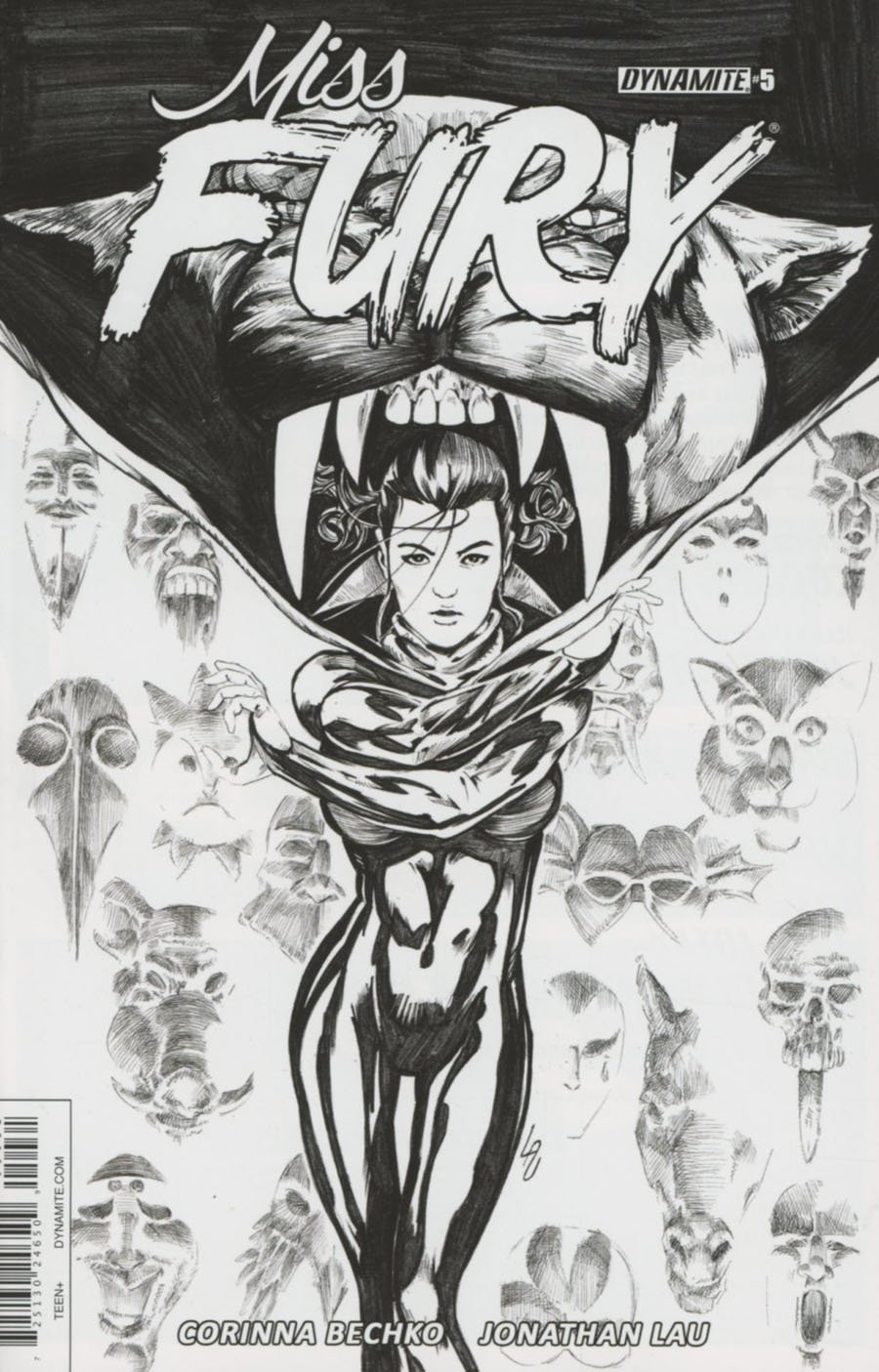 Miss Fury Vol 3 #5 Cover C Incentive Jonathan Lau Black & White Cover