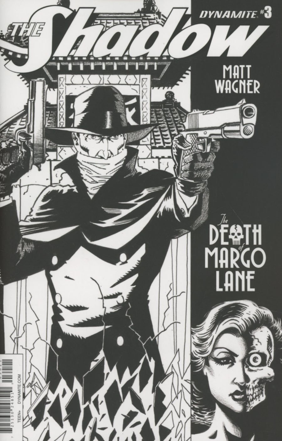 Shadow Death Of Margo Lane #3 Cover B Incentive Matt Wagner Black & White Cover