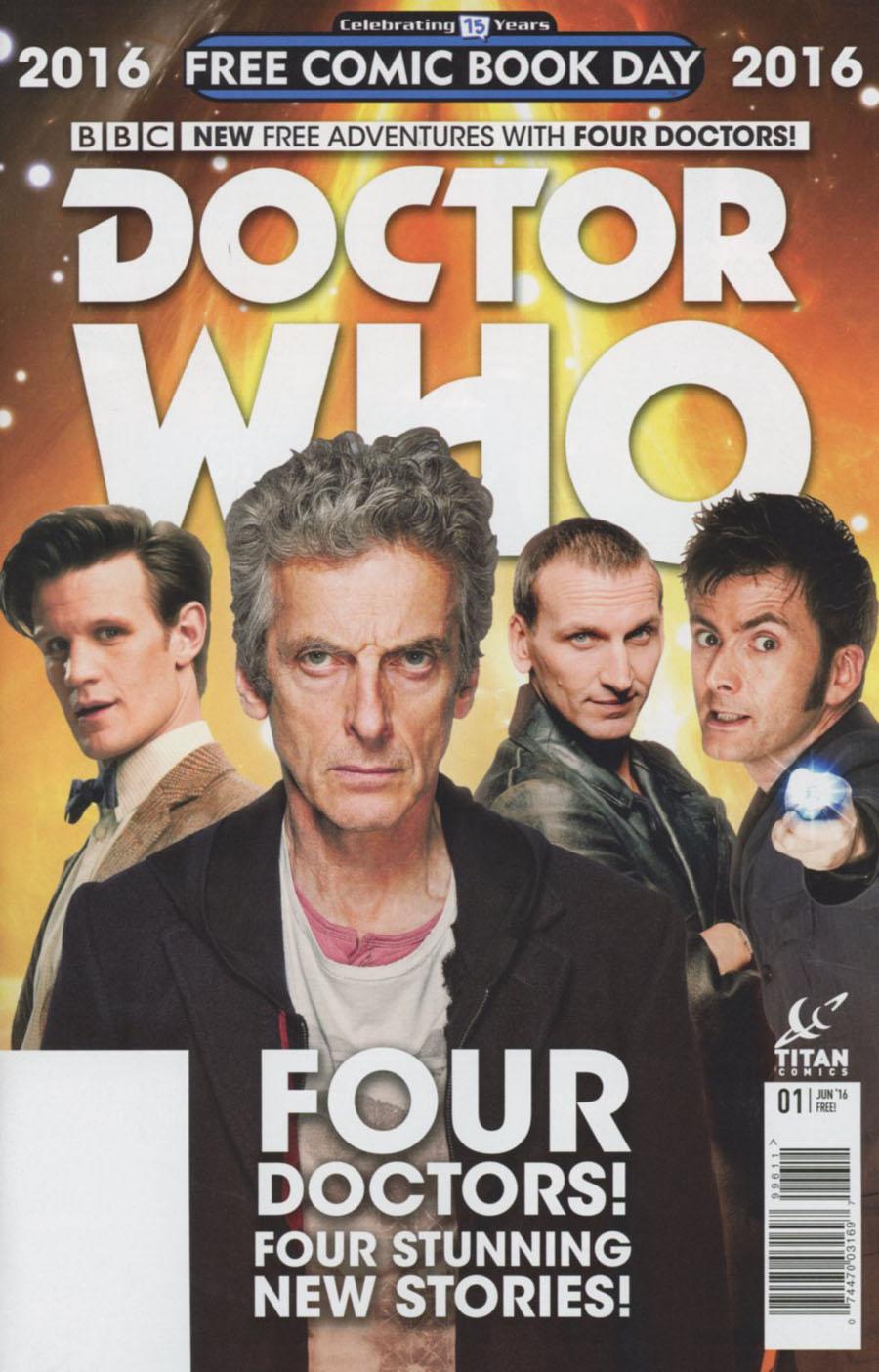 Doctor Who Four Doctors Special FCBD 2016