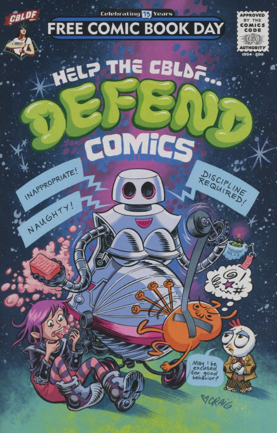 Help The CBLDF Defend Comics FCBD 2016
