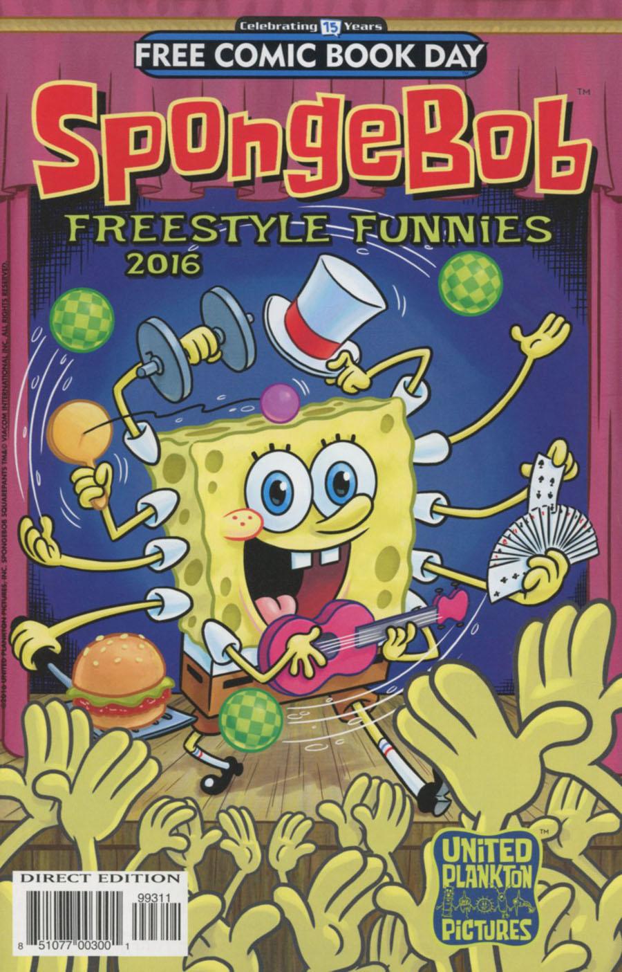 SpongeBob Freestyle Funnies FCBD 2016