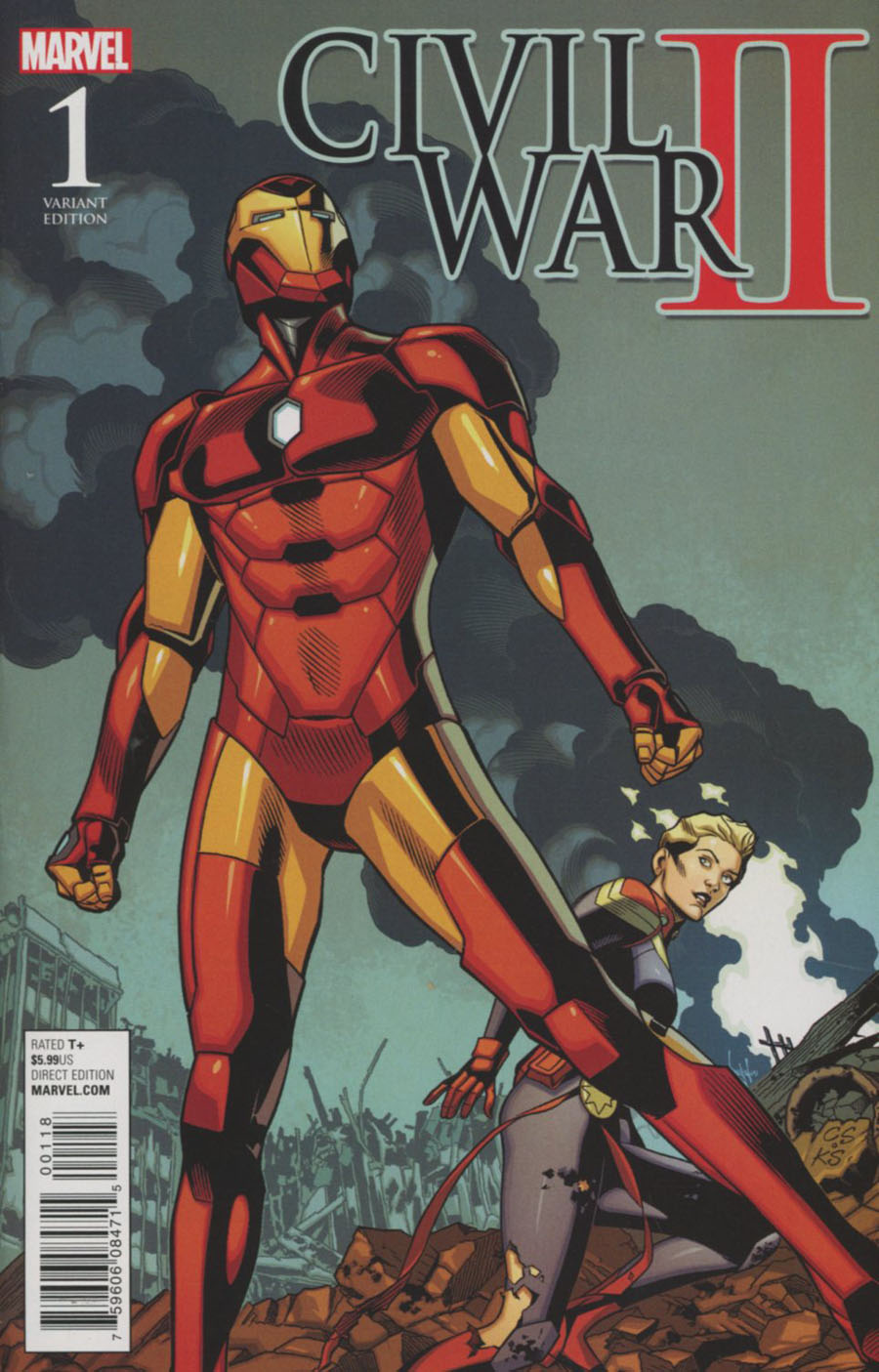 Civil War II #1 Cover L Incentive Chris Sprouse Battle Variant Cover