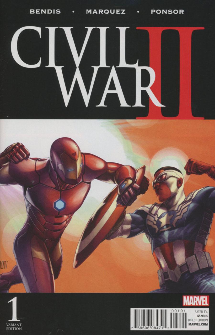Civil War II #1 Cover N Incentive Steve McNiven Color Variant Cover