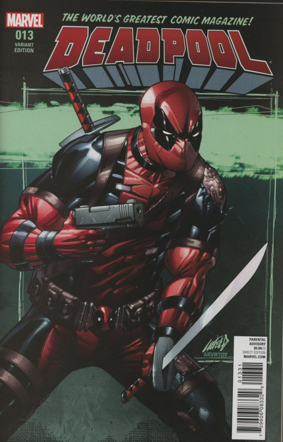 Deadpool Vol 5 #13 Cover G Incentive Rob Liefeld Variant Cover