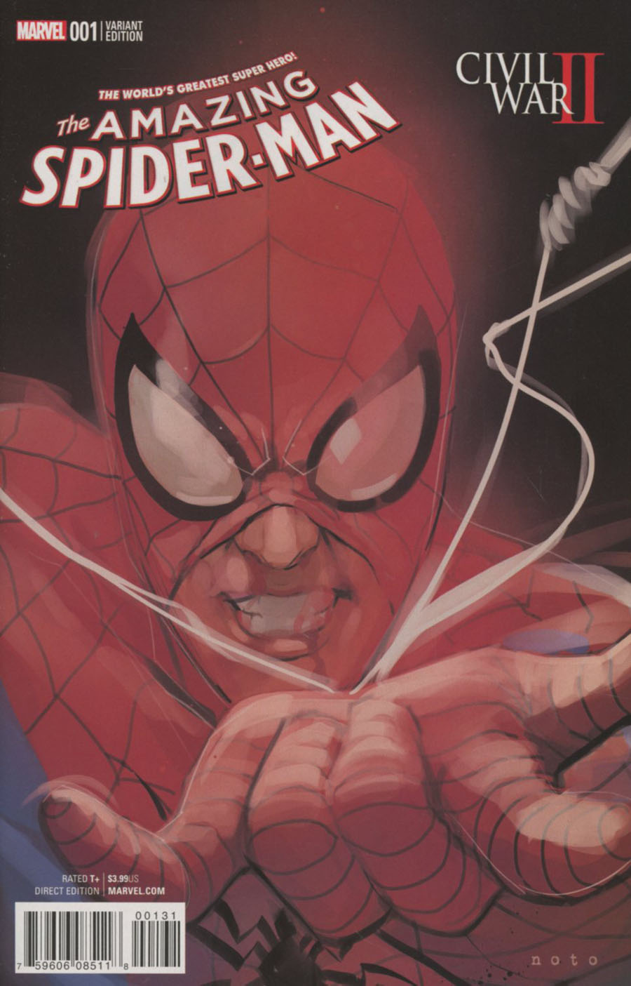 Civil War II Amazing Spider-Man #1 Cover D Incentive Phil Noto Character Variant Cover