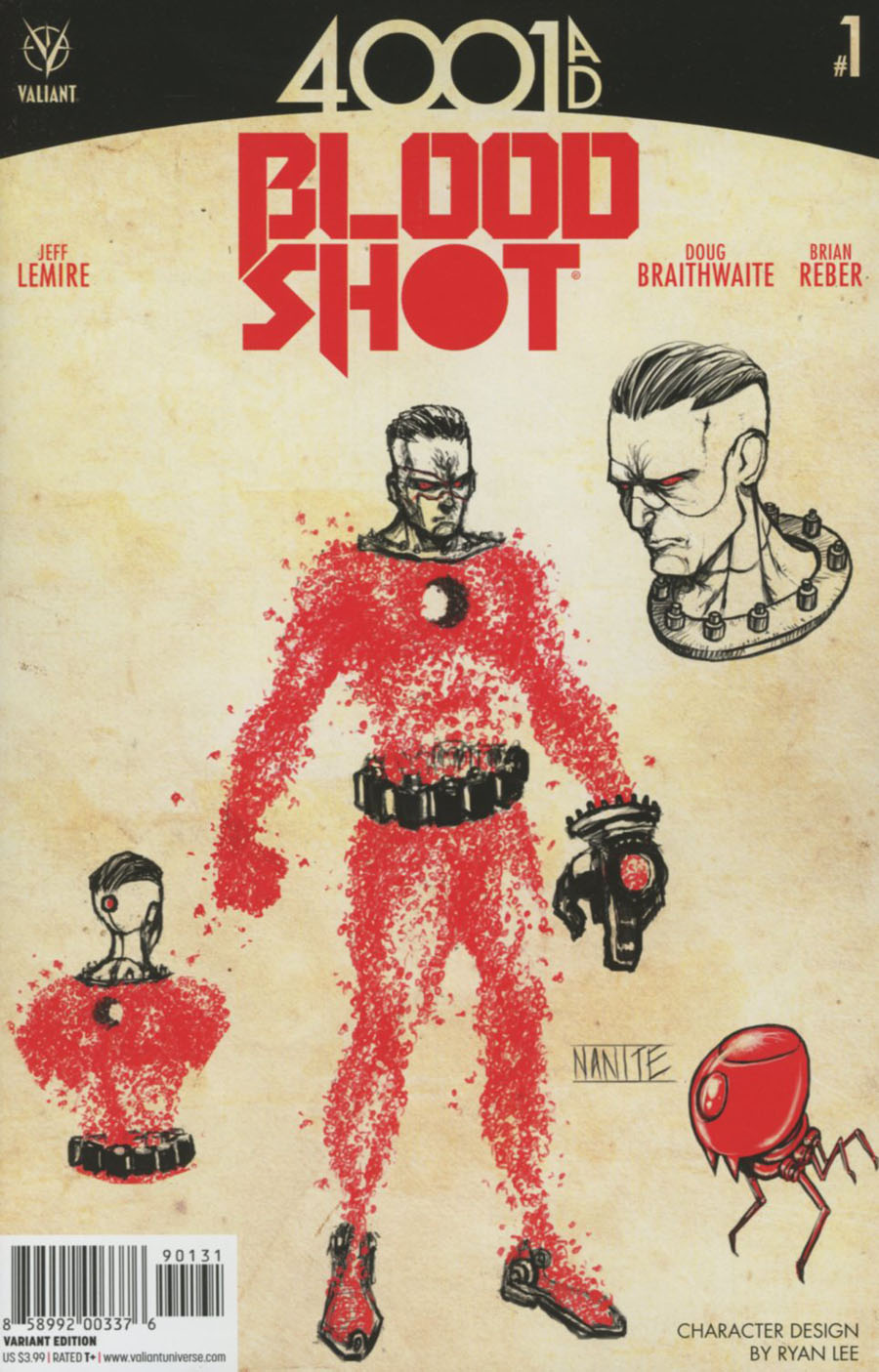 4001 AD Bloodshot #1 Cover C Incentive Ryan Lee Character Design Variant Cover