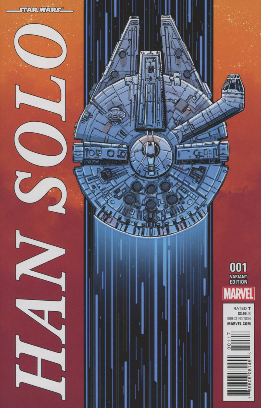 Star Wars Han Solo #1 Cover D Incentive Millennium Falcon Variant Cover