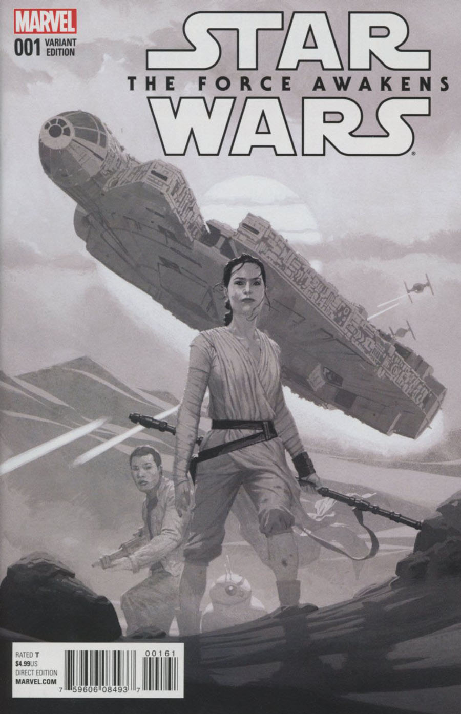 Star Wars Episode VII The Force Awakens Adaptation #1 Cover F Incentive Esad Ribic Sketch Cover