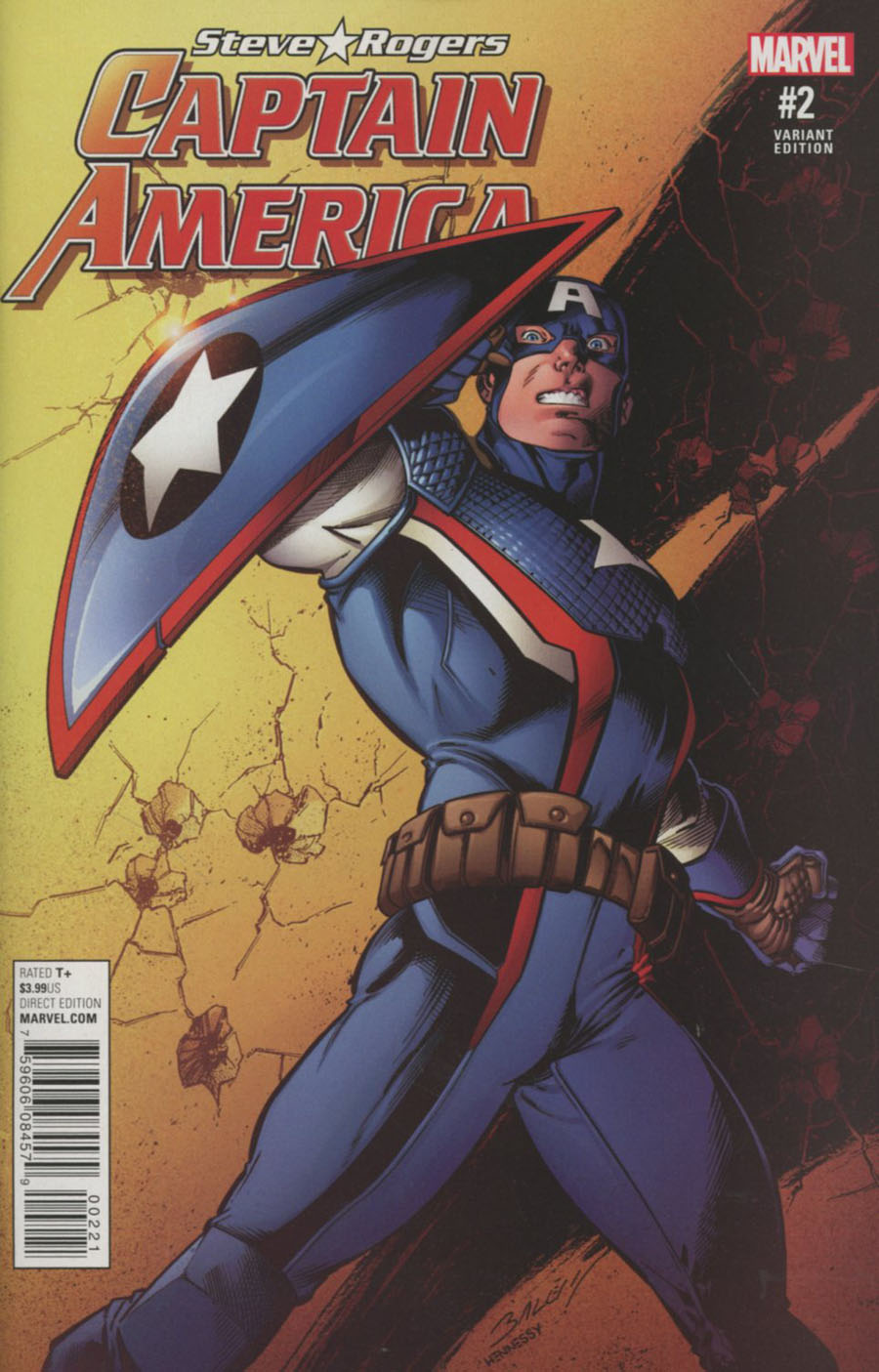 Captain America Steve Rogers #2 Cover B Incentive Mark Bagley Variant Cover