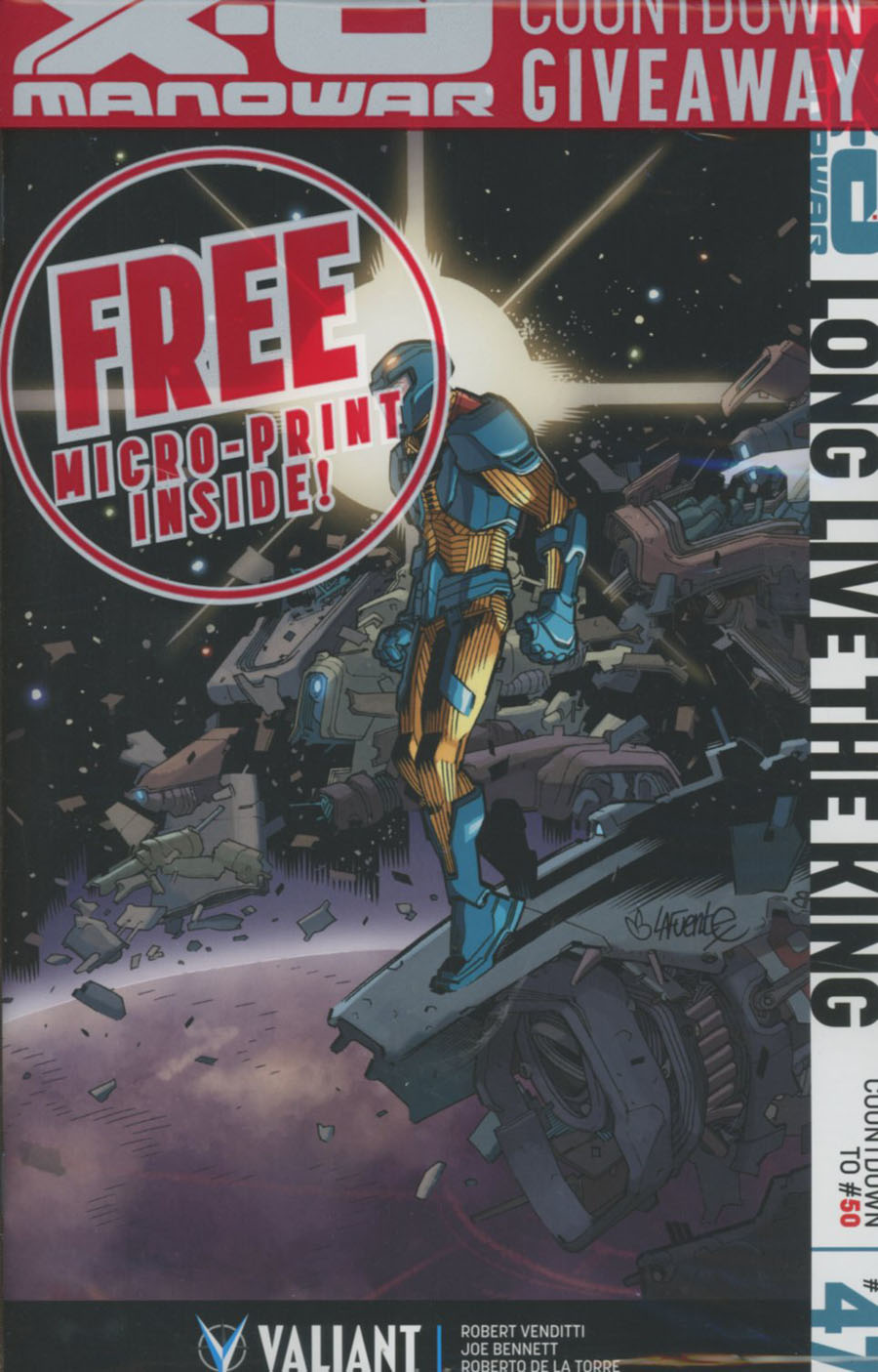 X-O Manowar Vol 3 #47 Cover F Incentive David Lafuente Variant Cover