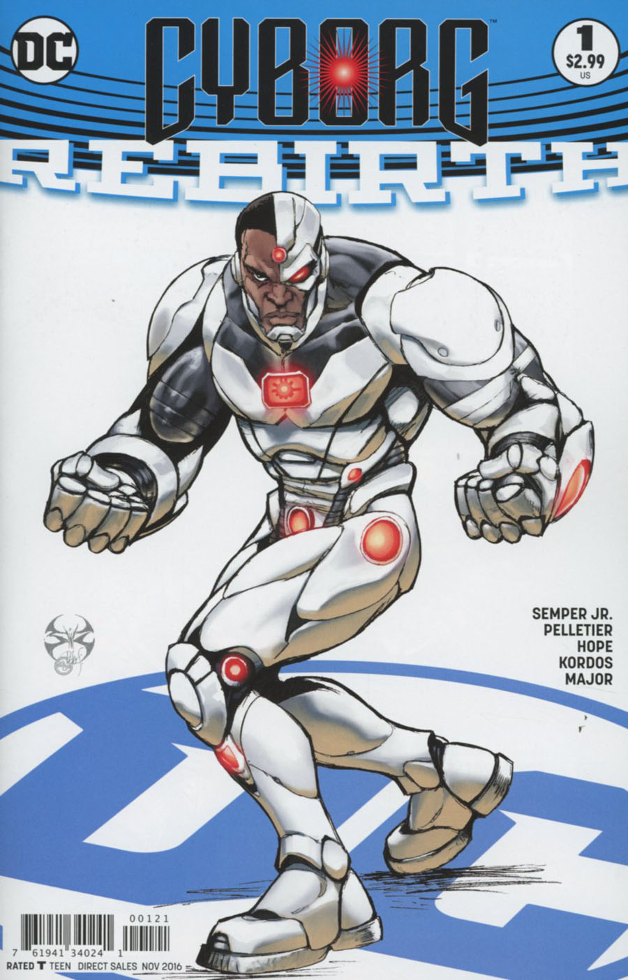 Cyborg Rebirth #1 Cover B Variant Joe Benitez Cover