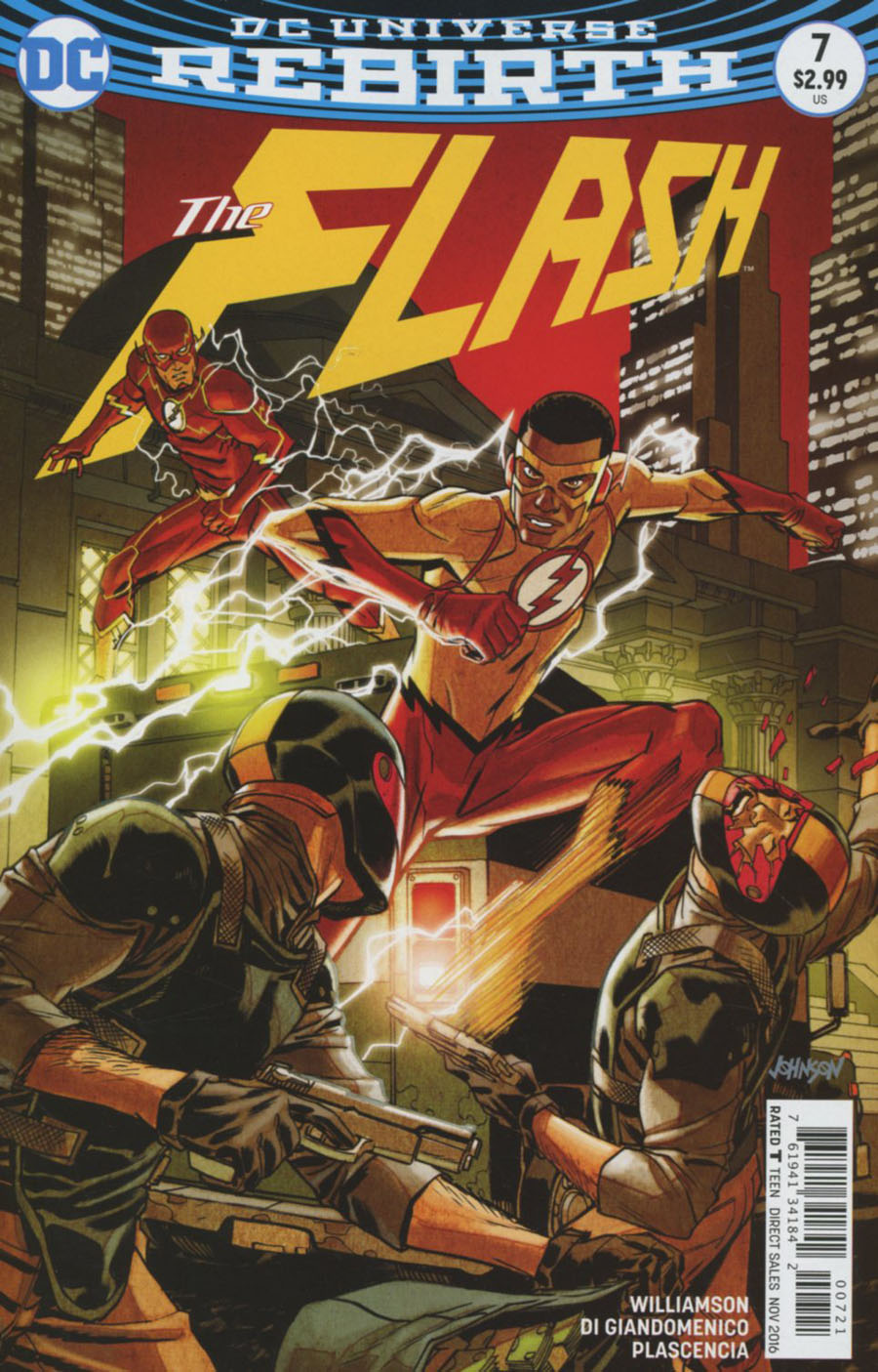 Flash Vol 5 #7 Cover B Variant Dave Johnson Cover