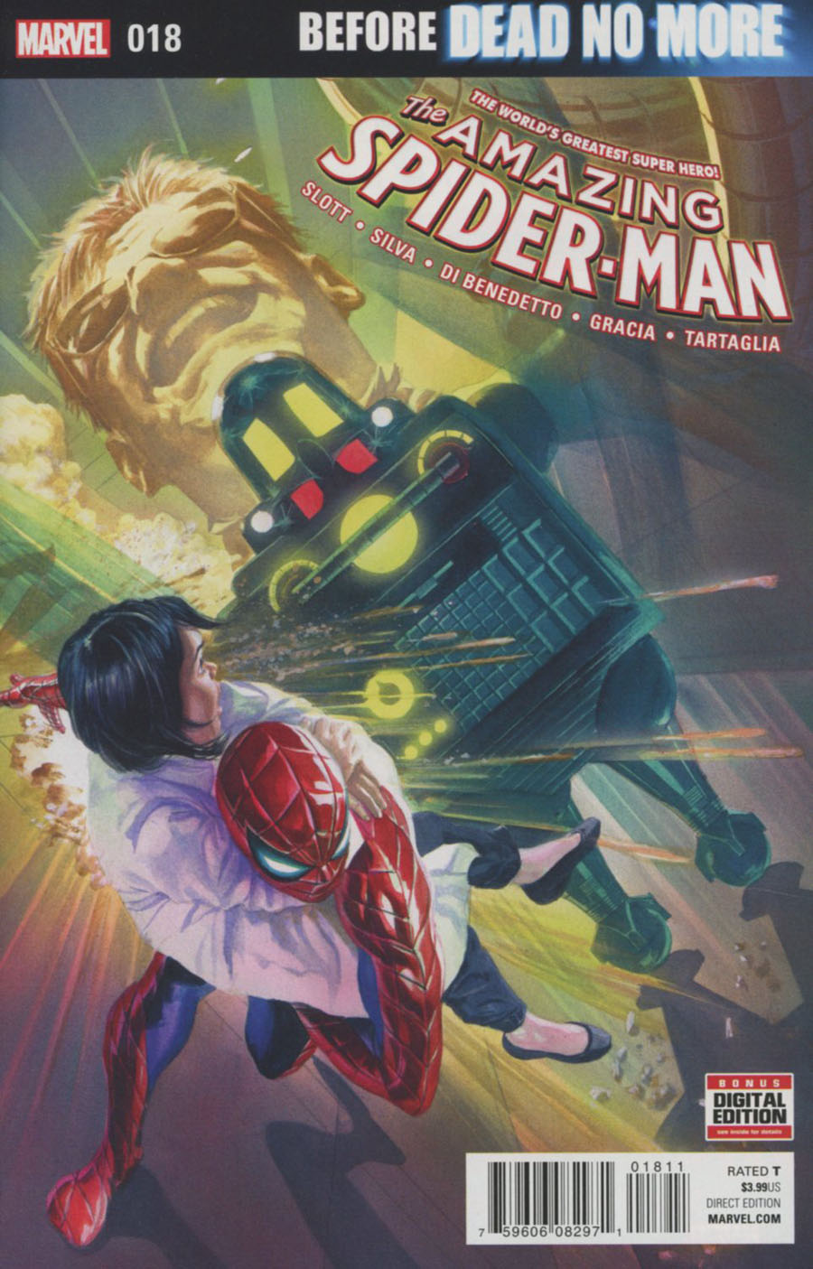 Amazing Spider-Man Vol 4 #18 Cover A Regular Alex Ross Cover (Dead No More Prelude)
